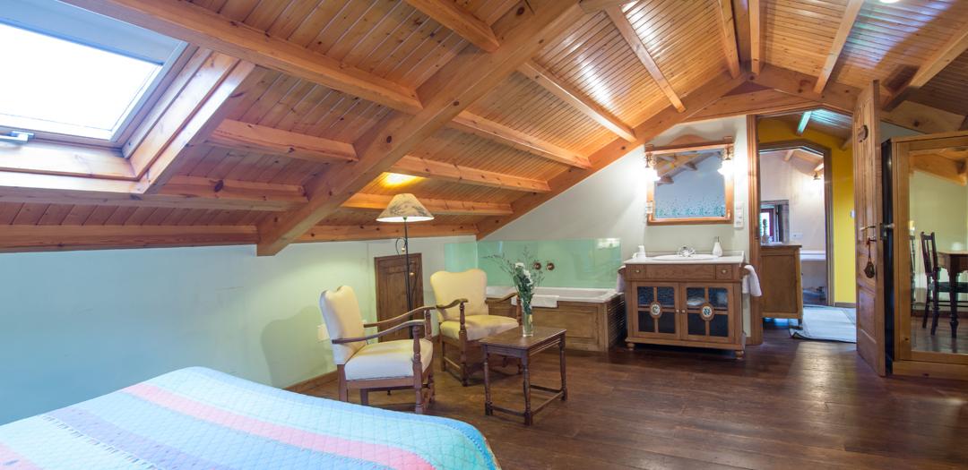 Interior do Cuarto de Sol en Casa de Roque